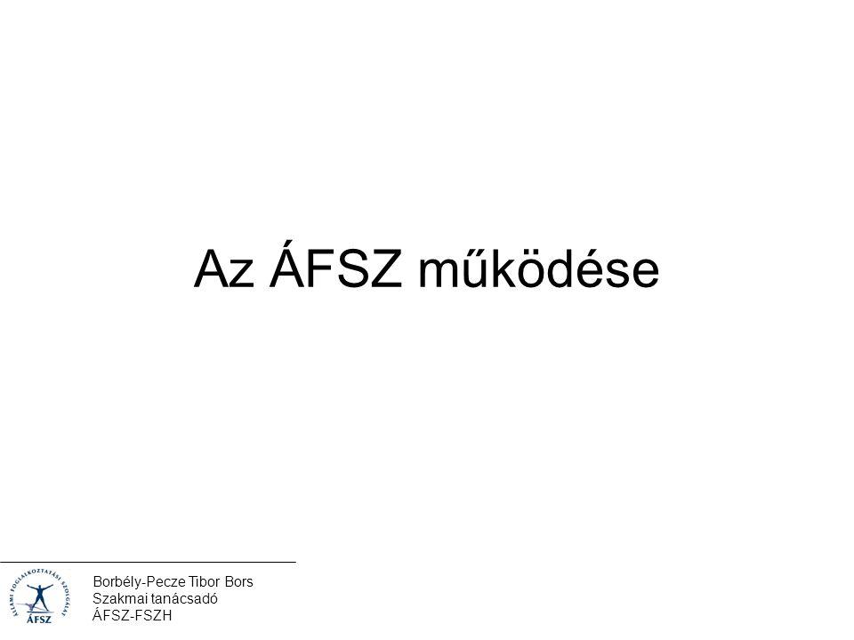 Borbély-Pecze Tibor Bors Szakmai tanácsadó ÁFSZ-FSZH Az ÁFSZ működése
