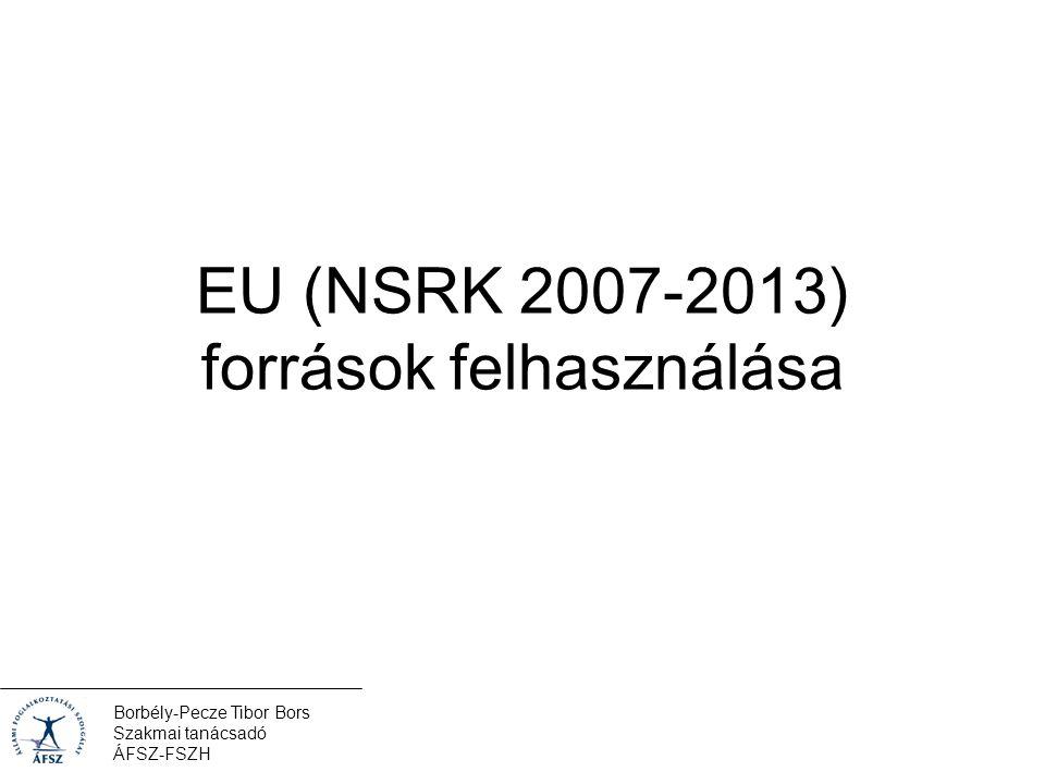 Borbély-Pecze Tibor Bors Szakmai tanácsadó ÁFSZ-FSZH EU (NSRK 2007-2013) források felhasználása