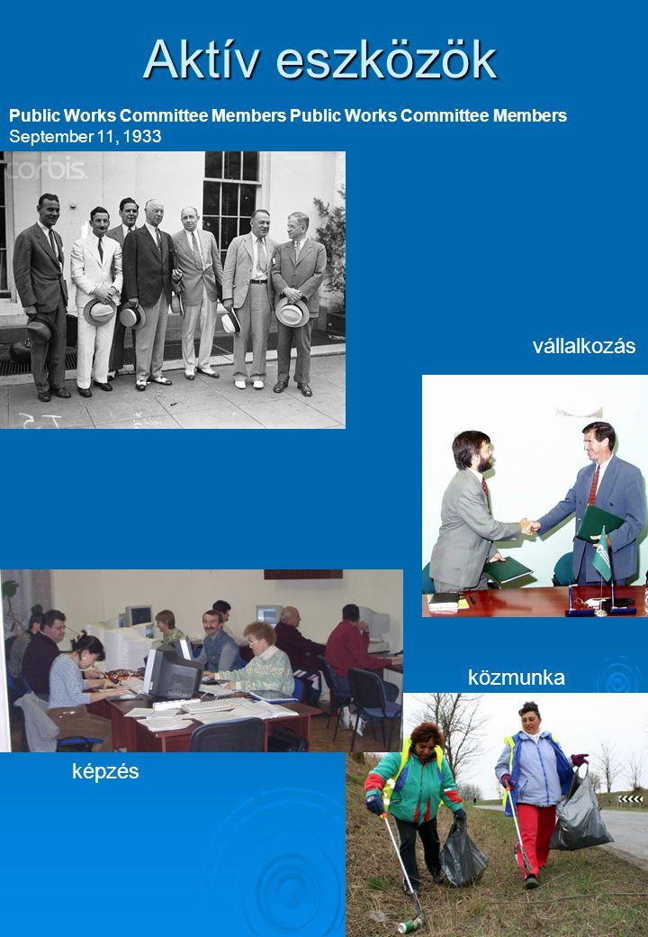 Public Works Committee Members September 11, 1933 Aktív eszközök képzés közmunka vállalkozás