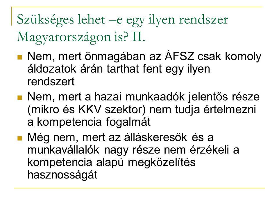 Szükséges lehet –e egy ilyen rendszer Magyarországon is.