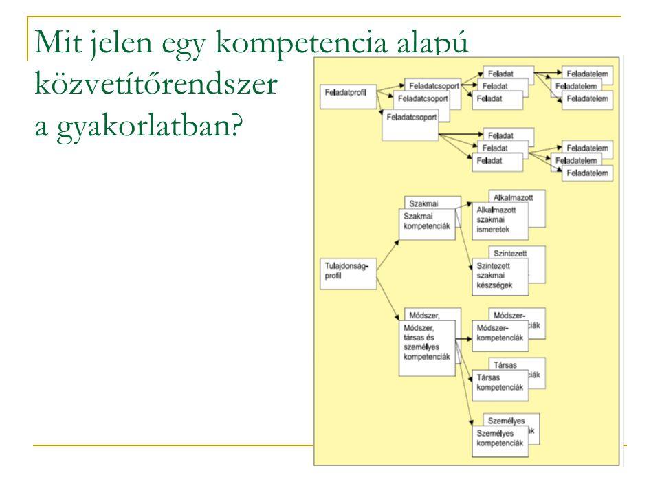 Mit jelen egy kompetencia alapú közvetítőrendszer a gyakorlatban