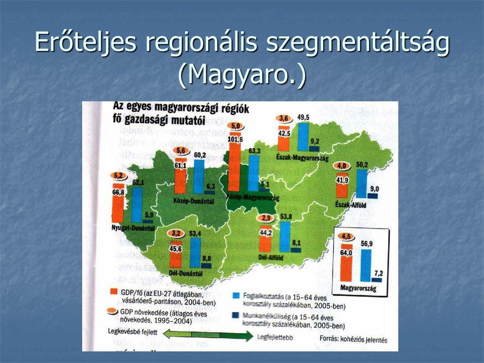 Erőteljes regionális szegmentáltság (Magyaro.)