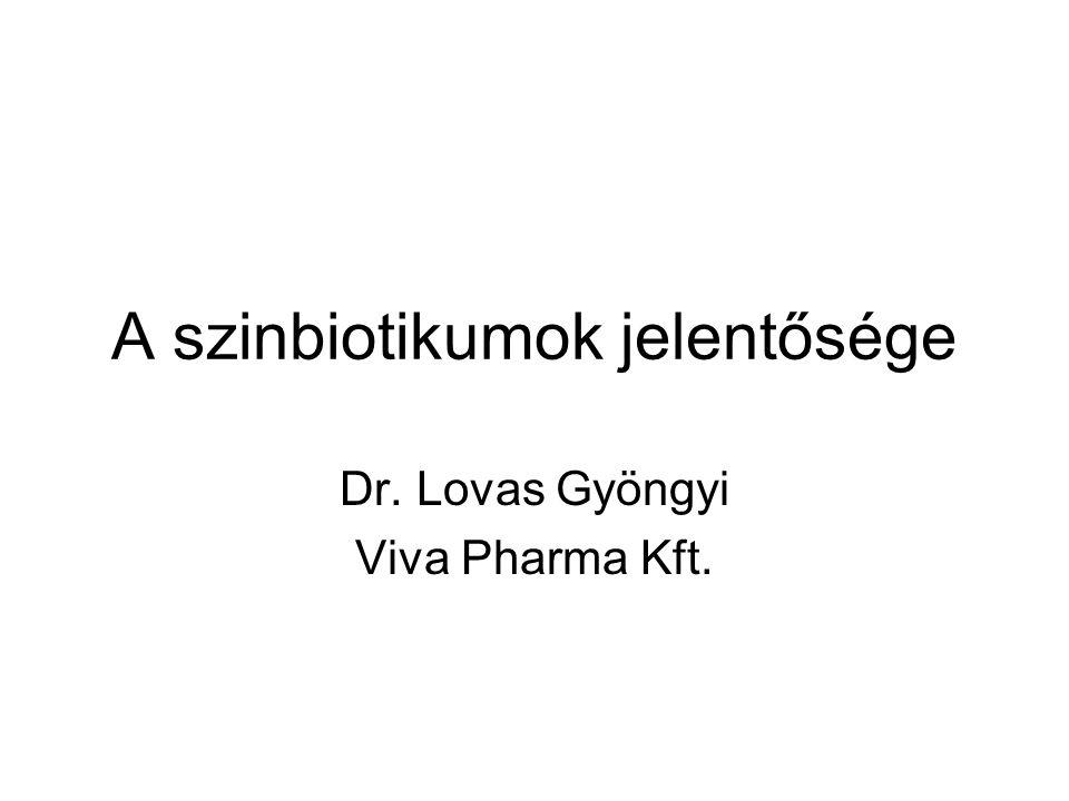 A szinbiotikumok jelentősége Dr. Lovas Gyöngyi Viva Pharma Kft.