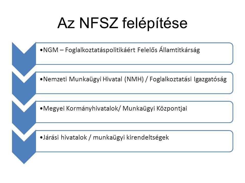 Az NFSZ felépítése NGM – Foglalkoztatáspolitikáért Felelős ÁllamtitkárságNemzeti Munkaügyi Hivatal (NMH) / Foglalkoztatási IgazgatóságMegyei Kormányhi
