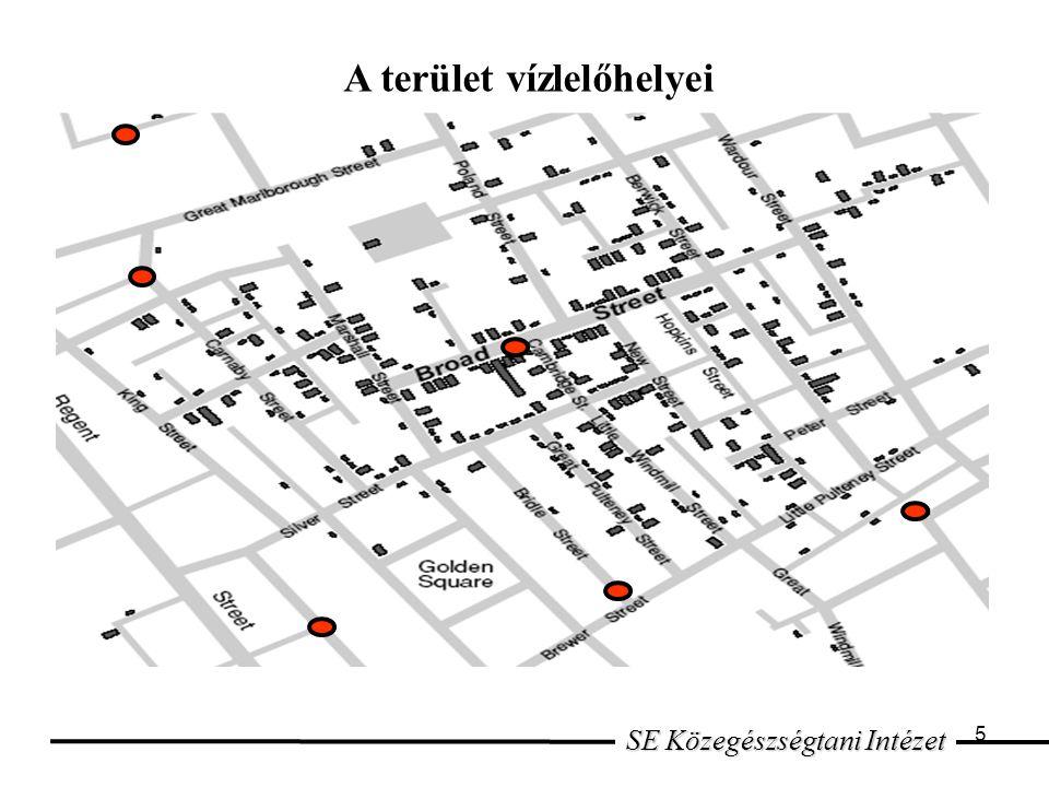 5 SE Közegészségtani Intézet A terület vízlelőhelyei