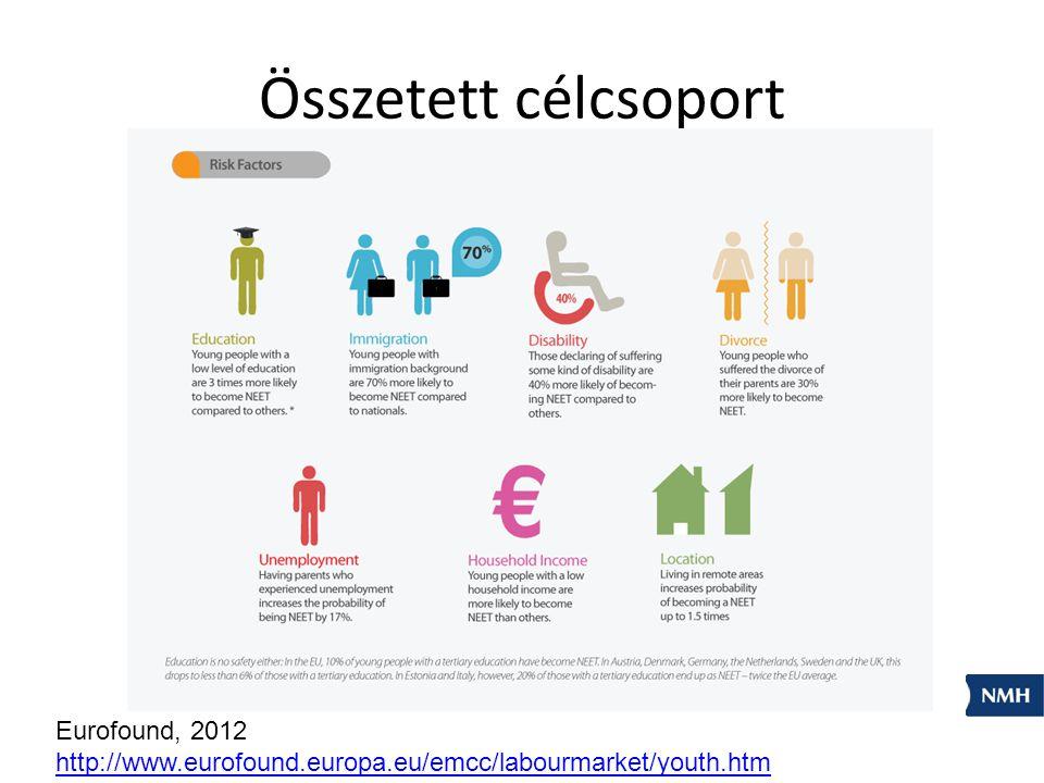Összetett célcsoport Eurofound, 2012 http://www.eurofound.europa.eu/emcc/labourmarket/youth.htm