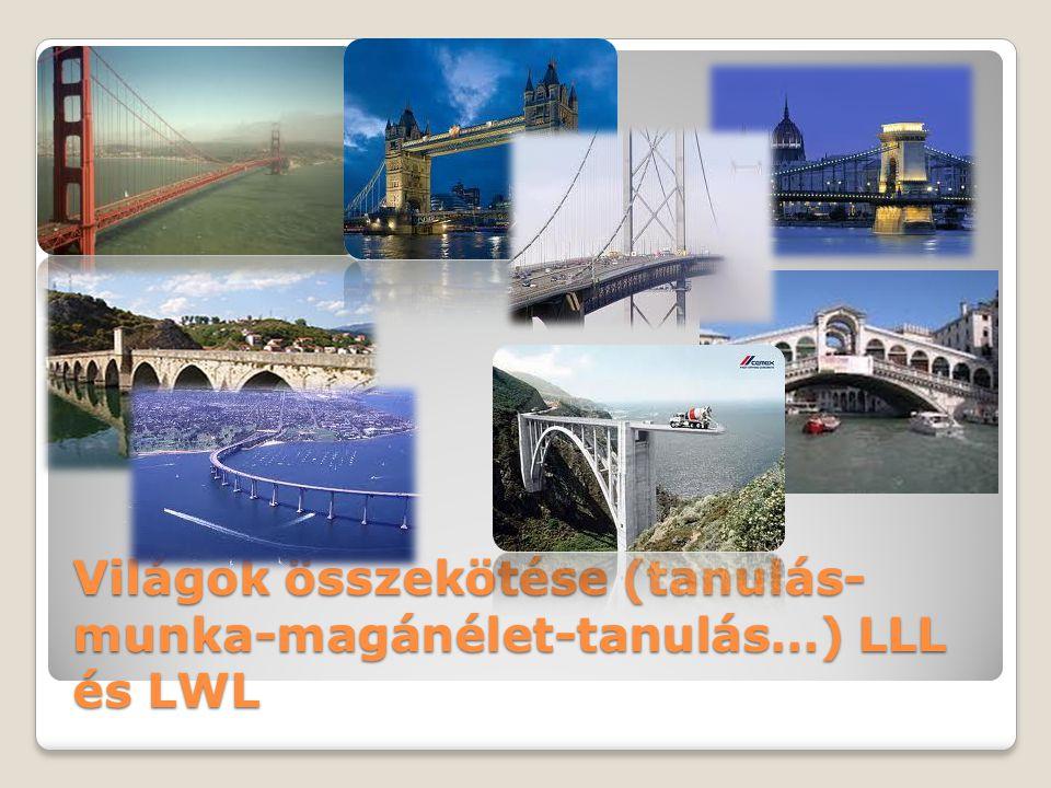 Világok összekötése (tanulás- munka-magánélet-tanulás…) LLL és LWL