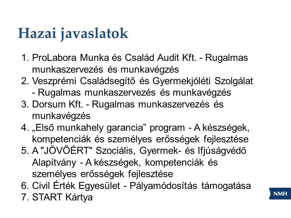 Hazai javaslatok 1.ProLabora Munka és Család Audit Kft.