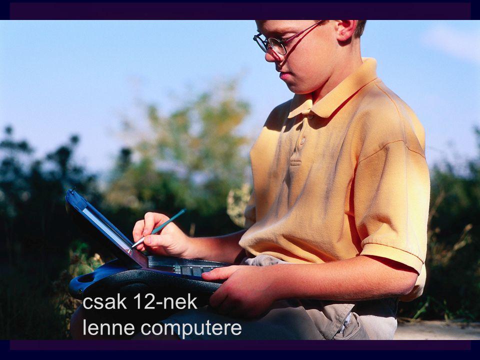 csak 12-nek lenne computere