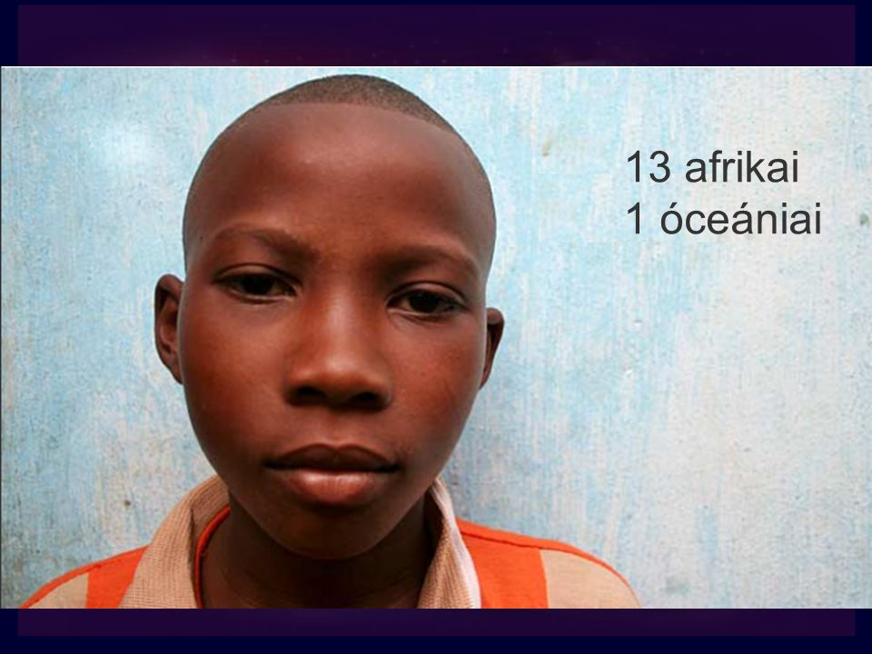 13 afrikai 1 óceániai