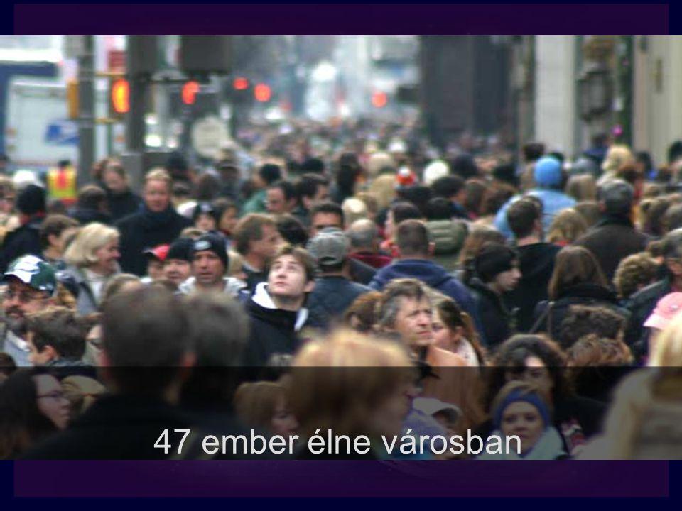 47 ember élne városban