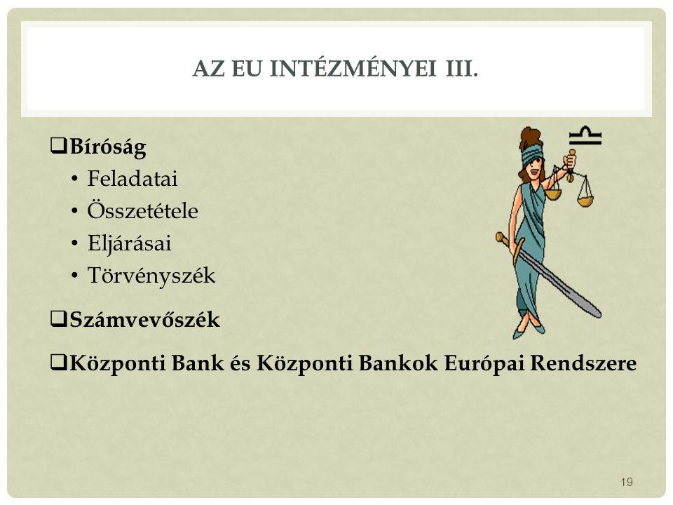 AZ EU INTÉZMÉNYEI III.