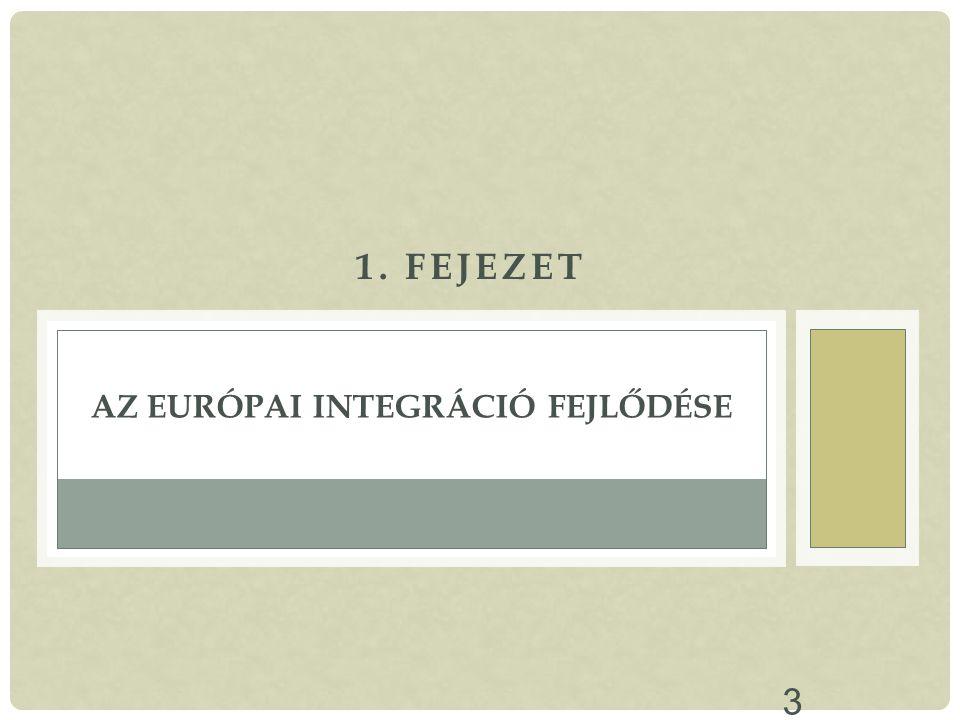 3 1. FEJEZET AZ EURÓPAI INTEGRÁCIÓ FEJLŐDÉSE