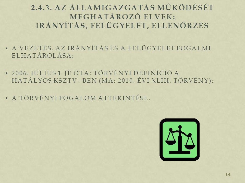 13 2.4.2. AZ ÁLLAMIGAZGATÁS MŰKÖDÉSÉT MEGHATÁROZÓ ELVEK: A SZOLGÁLATI ÚT ÉS A SZIGNÁLÁS SZOLGÁLATI ÚT SZIGNÁLÁS A SZOLGÁLATI ÚT ÉS A SZIGNÁLÁS RENDJÉN