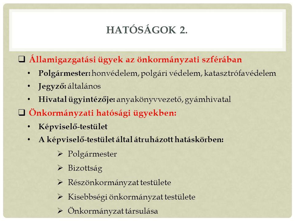 HATÓSÁGOK 2.