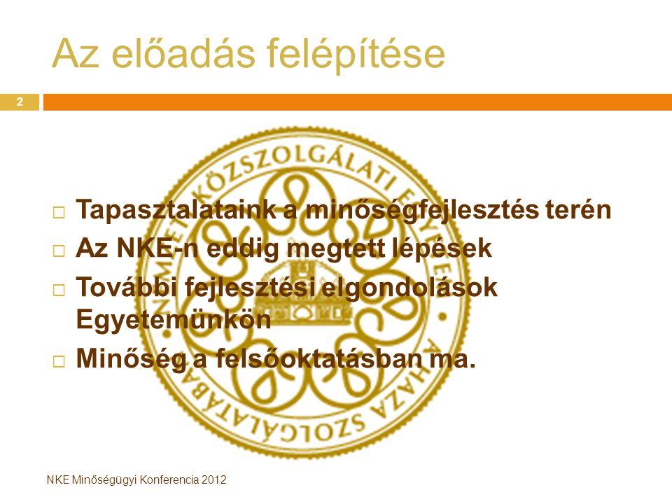 NKE Minőségügyi Konferencia 2012 EvaSys rendszer bemutatása I.