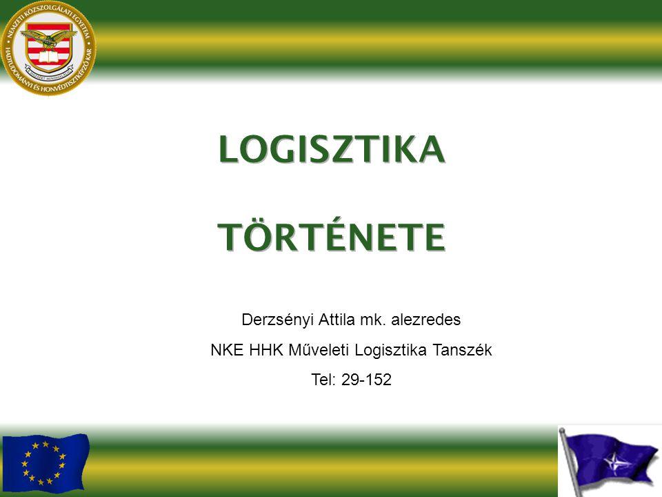 Derzsényi Attila mk. alezredes NKE HHK Műveleti Logisztika Tanszék Tel: 29-152