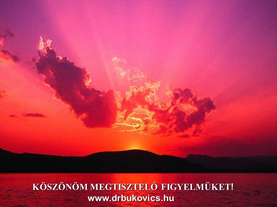 KÖSZÖNÖM MEGTISZTELŐ FIGYELMÜKET ! www.drbukovics.hu 25
