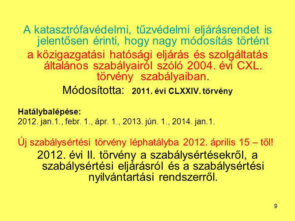A TŰZOLTÓSÁG SZERVEZETI ÉS IRÁNYÍTÁSI RENDSZERE 2012.