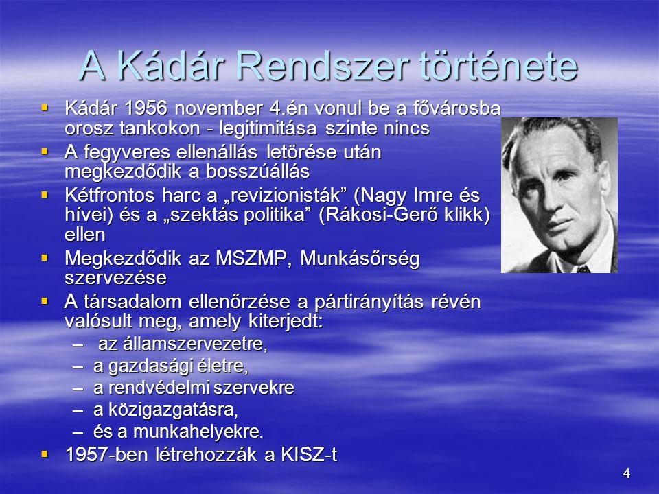 15 Ellenzék kibontakozása  1985 Monor: együtt az összes ellenzéki  1987 júl.