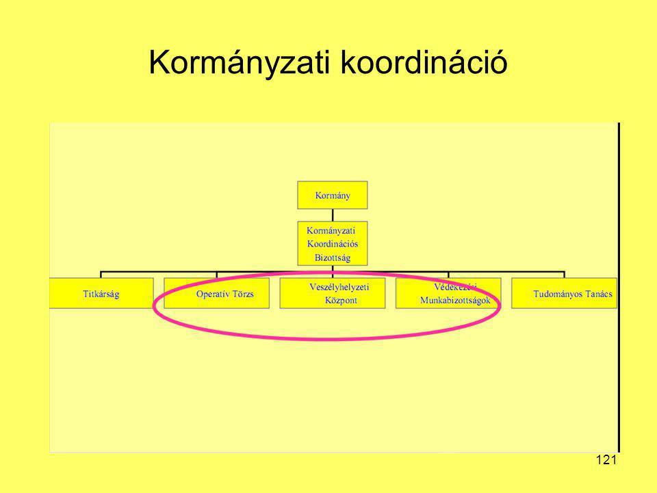Kormányzati koordináció 121