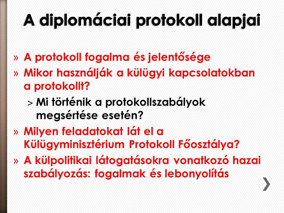 » A protokoll fogalma és jelentősége » Mikor használják a külügyi kapcsolatokban a protokollt.