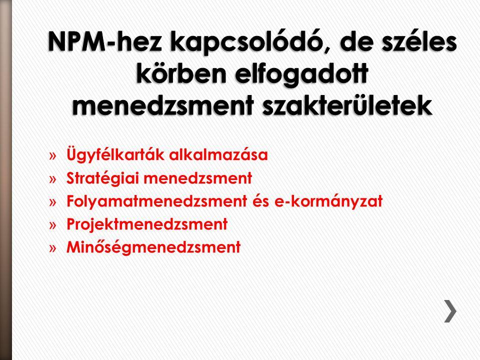 » Ügyfélkarták alkalmazása » Stratégiai menedzsment » Folyamatmenedzsment és e-kormányzat » Projektmenedzsment » Minőségmenedzsment