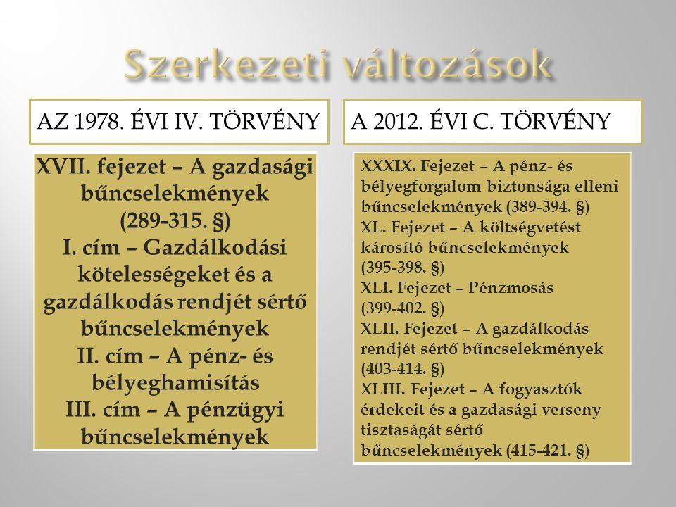 AZ 1978.ÉVI IV. TÖRVÉNYA 2012. ÉVI C. TÖRVÉNY XVIII.