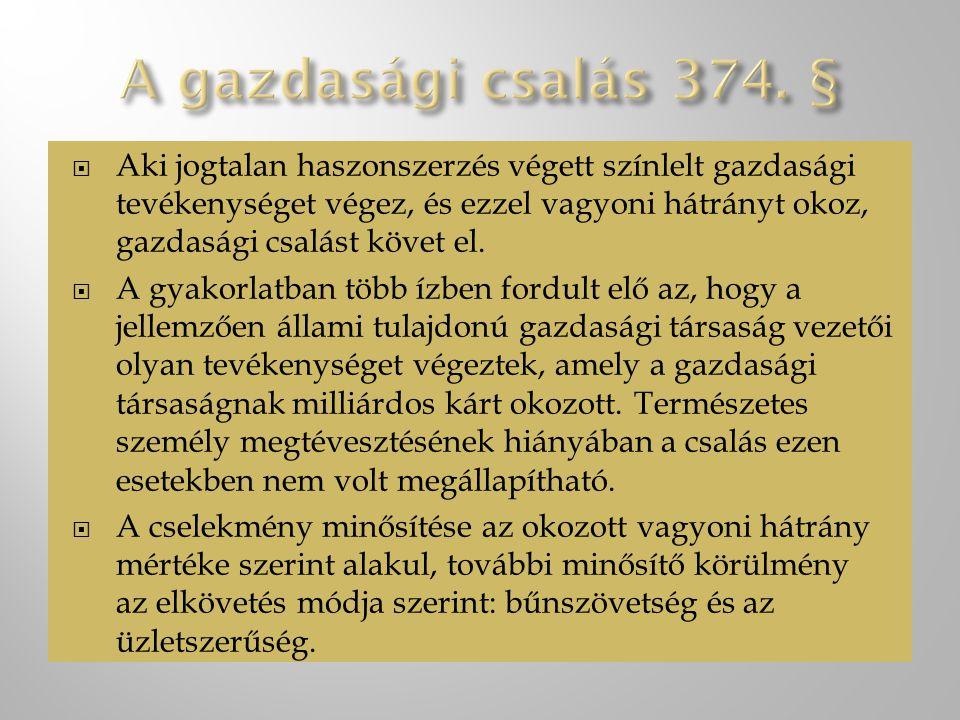 A fejezethez tartozó bűncselekmények:  Bitorlás 384.