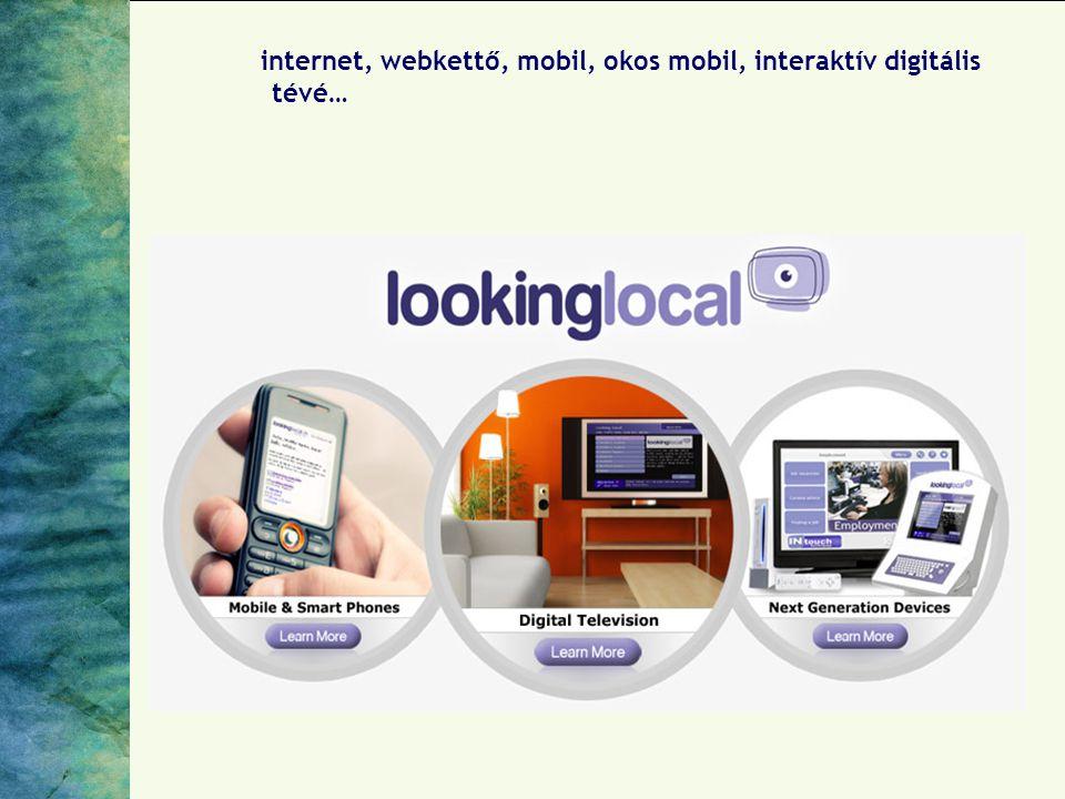 internet, webkettő, mobil, okos mobil, interaktív digitális tévé…