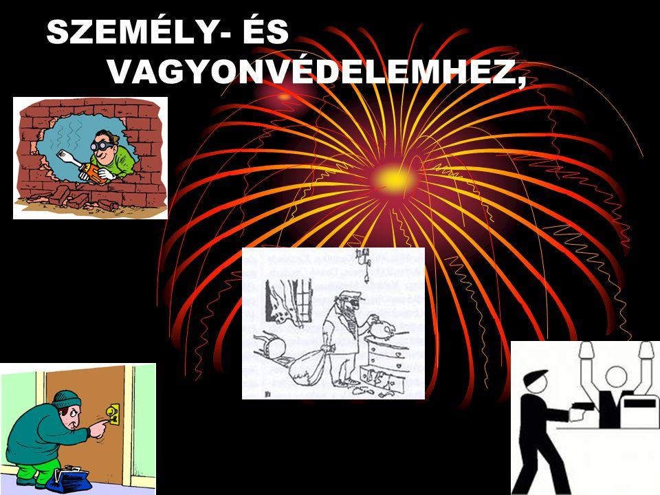 SZEMÉLY- ÉS VAGYONVÉDELEMHEZ,