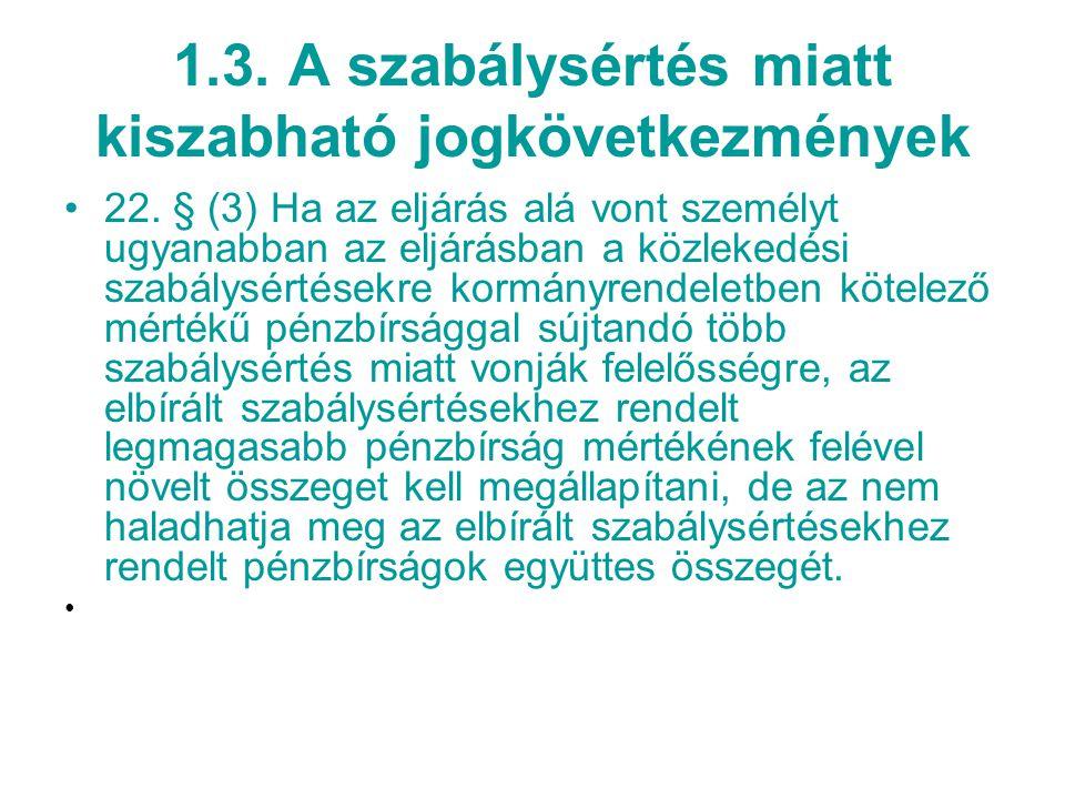 1.3.A szabálysértés miatt kiszabható jogkövetkezmények 22.