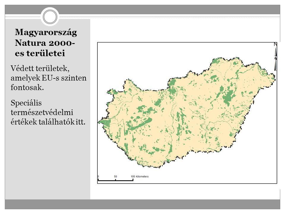 Magyarország Natura 2000- es területei Védett területek, amelyek EU-s szinten fontosak. Speciális természetvédelmi értékek találhatók itt.