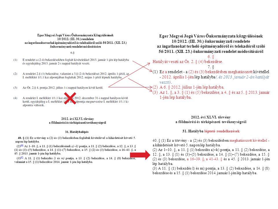 Eger Megyei Jogú Város Önkormányzata Közgyűlésének 10/2012. (III. 30.) rendelete az ingatlanokat terhel építményadóról és telekadóról szóló 56/2011. (