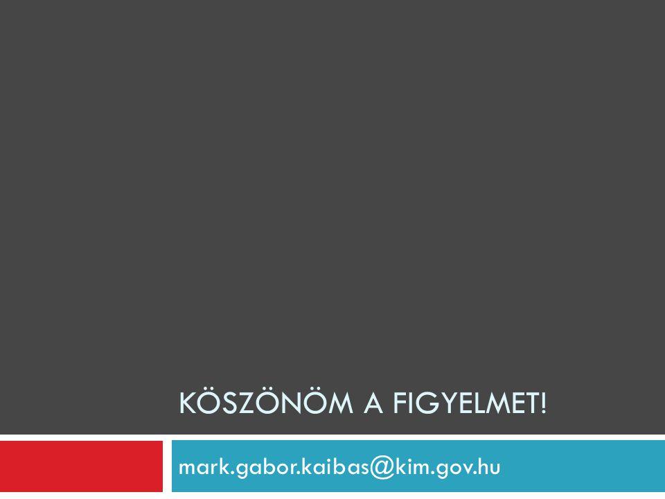 mark.gabor.kaibas@kim.gov.hu KÖSZÖNÖM A FIGYELMET!