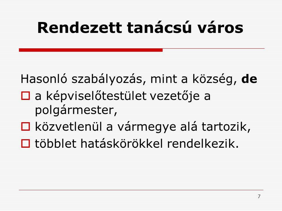 8 Tanácsrendszer /1.1950. évi I. tv.