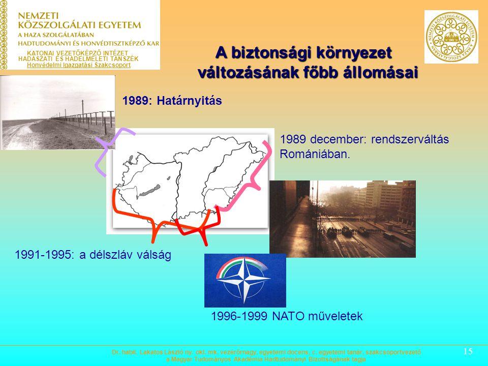 15 1989 december: rendszerváltás Romániában.