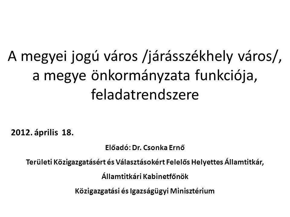 Jogszabályi háttér Alaptörvény Magyarország helyi önkormányzatairól szóló 2011.