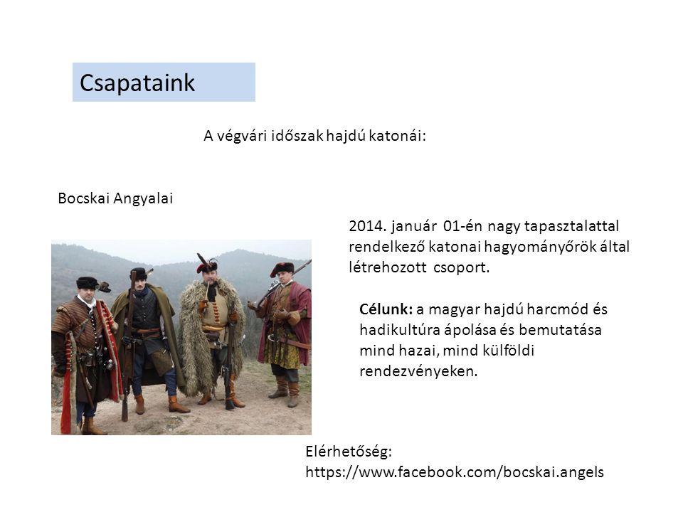 Csapataink Bocskai Angyalai Események, rendezvények: 2014.