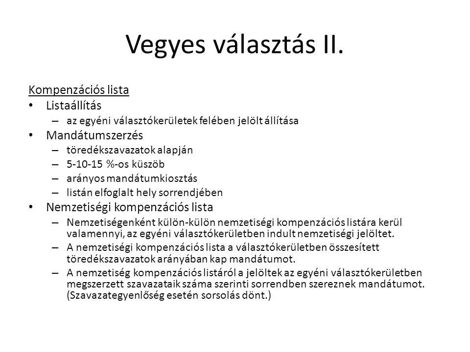 Vegyes választás II.