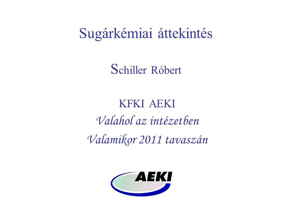 Sugárkémiai áttekintés S chiller Róbert KFKI AEKI Valahol az intézetben Valamikor 2011 tavaszán