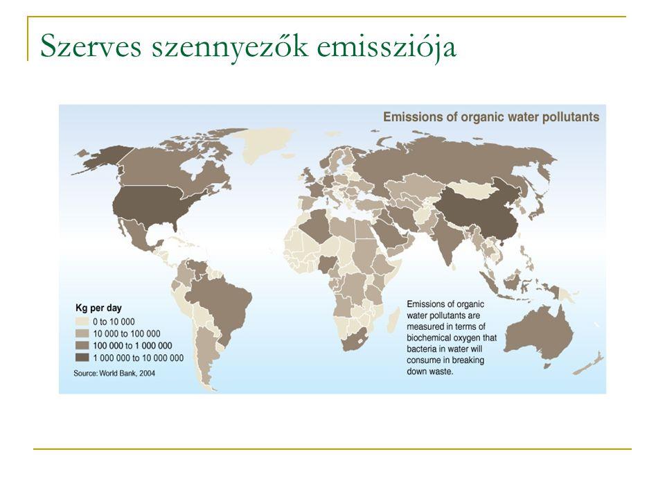 Oxidáció után bonthatóvá vált szennyvizek példái