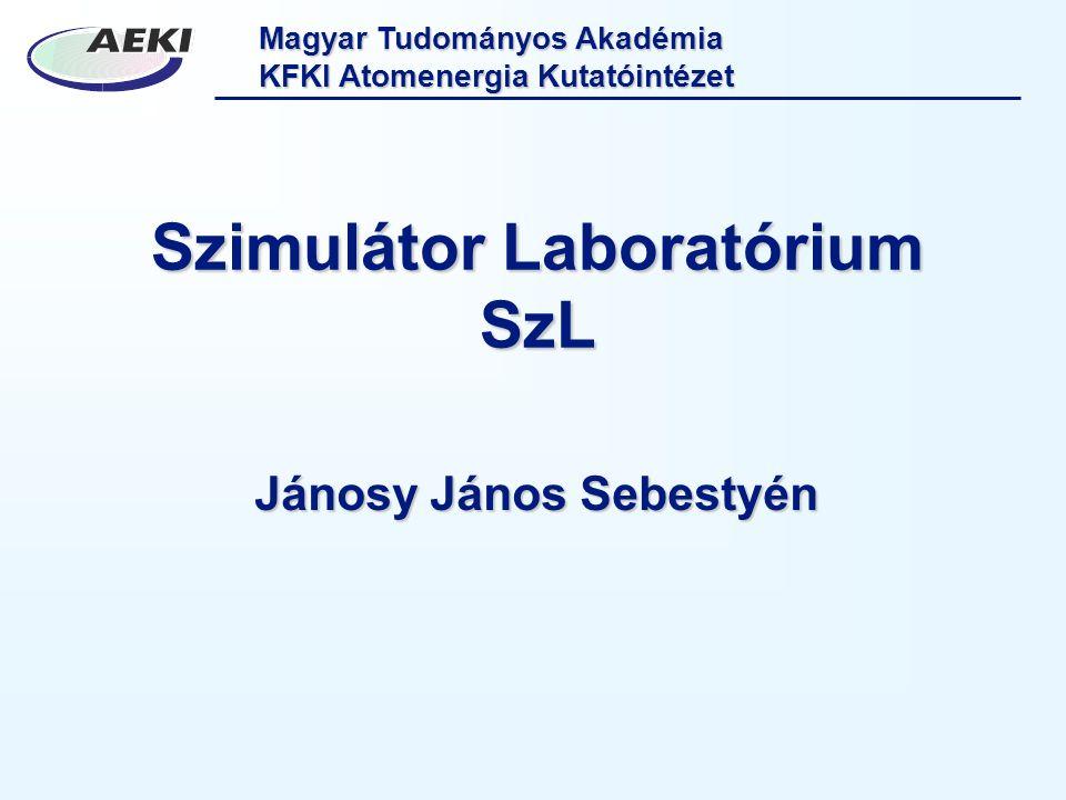 Magyar Tudományos Akadémia KFKI Atomenergia Kutatóintézet Szimulátor Laboratórium SzL Jánosy János Sebestyén