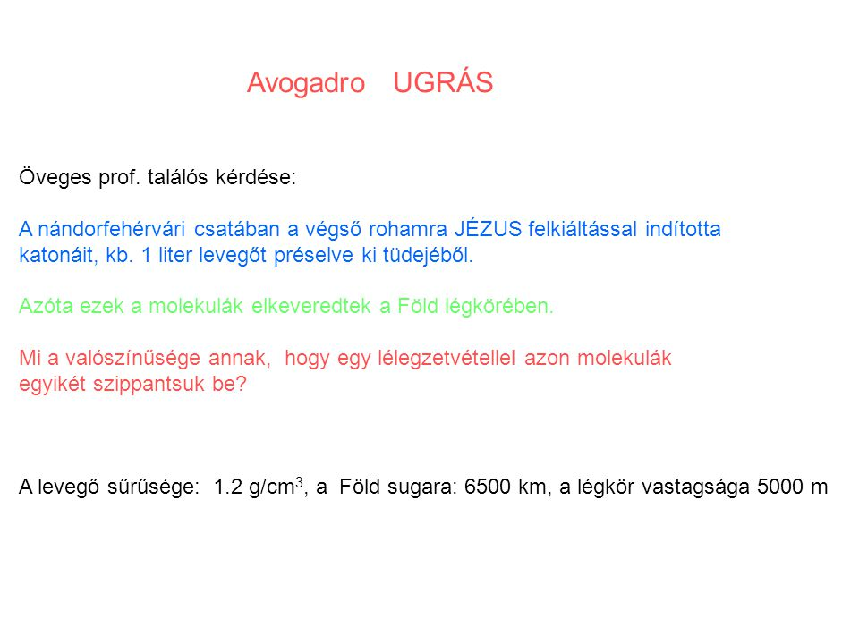 Avogadro UGRÁS Öveges prof.