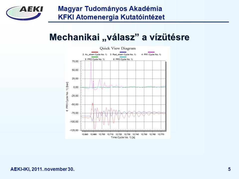 Magyar Tudományos Akadémia KFKI Atomenergia Kutatóintézet AEKI-IKI, 2011. november 30.16 CERES (5)