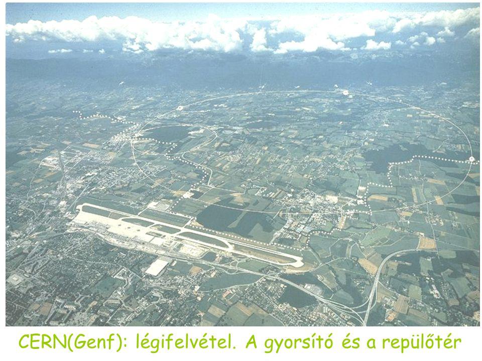 CERN(Genf): légifelvétel. A gyorsító és a repülőtér