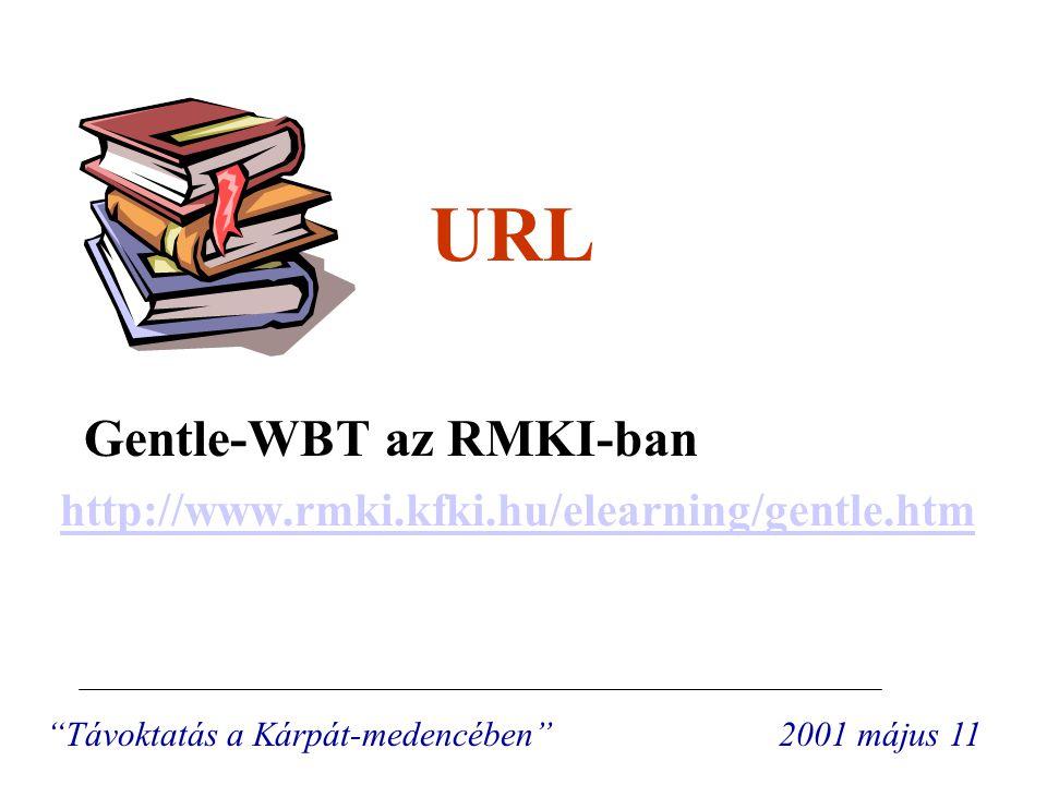 """URL Gentle-WBT az RMKI-ban http://www.rmki.kfki.hu/elearning/gentle.htm """"Távoktatás a Kárpát-medencében"""" 2001 május 11"""