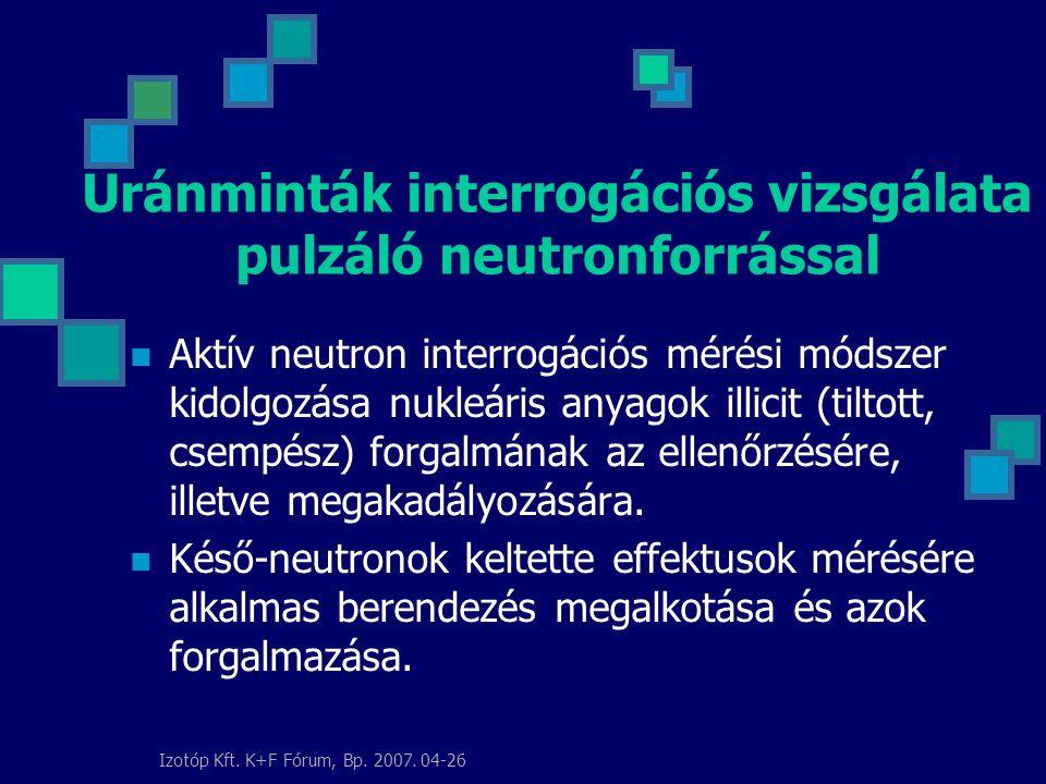 Izotóp Kft. K+F Fórum, Bp. 2007.