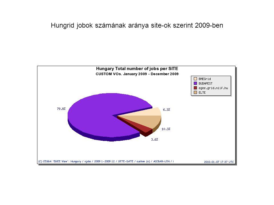 Hungrid jobok számának aránya site-ok szerint 2009-ben