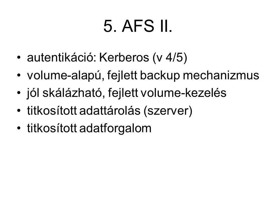 5. AFS II.